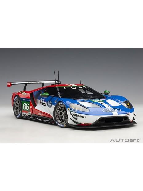 Ford GT Le Mans 2016 Johnson/Mucke/Pla n°66 1/18 AUTOart AUTOart - 2