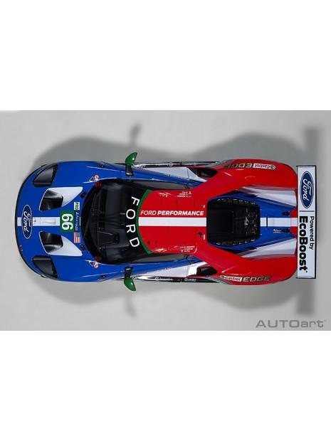 Ford GT Le Mans 2016 Johnson/Mucke/Pla n°66 1/18 AUTOart AUTOart - 11