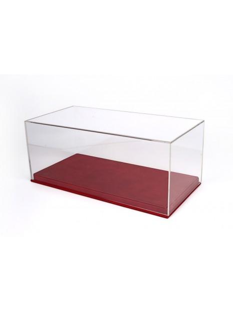 Vitrine plexiglas avec socle en cuir rouge 1/18 BBR BBR Models - 1