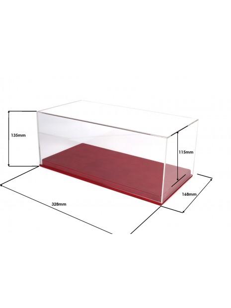 Display Case Red Leatherette Base 1/18 BBR BBR Models - 2