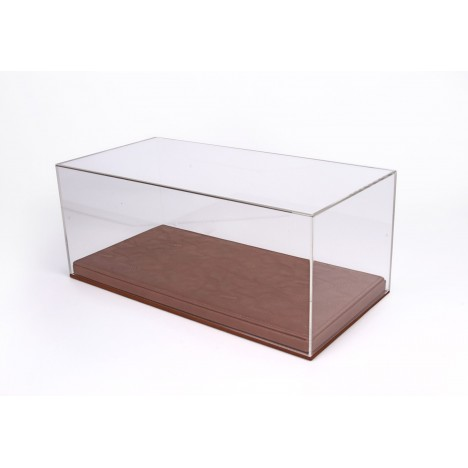 Vitrine plexiglas avec socle en cuir marron 1/18 BBR BBR Models - 1