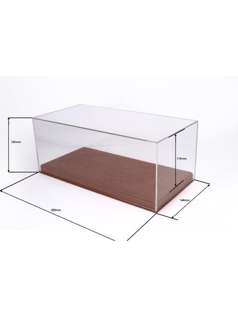 Vitrine plexiglas avec socle en cuir marron 1/18 BBR BBR Models - 2