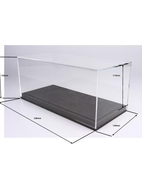 Display Case With Grey Leatherette Base 1/18 BBR BBR Models - 2