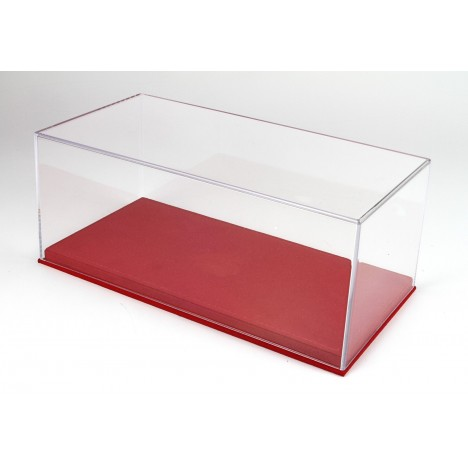 Display Case With Red Alcantara Base 1/18 BBR BBR Models - 1