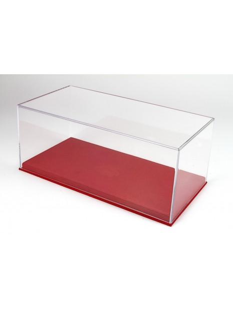 Vitrine plexiglas avec socle en alcantara rouge 1/18 BBR BBR Models - 1