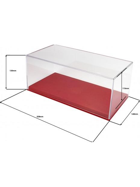Vitrine plexiglas avec socle en alcantara rouge 1/18 BBR BBR Models - 3