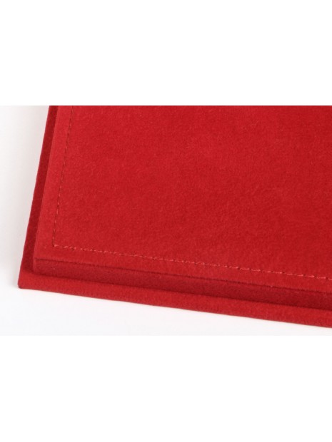 Vitrine plexiglas avec socle en alcantara rouge 1/18 BBR BBR Models - 4