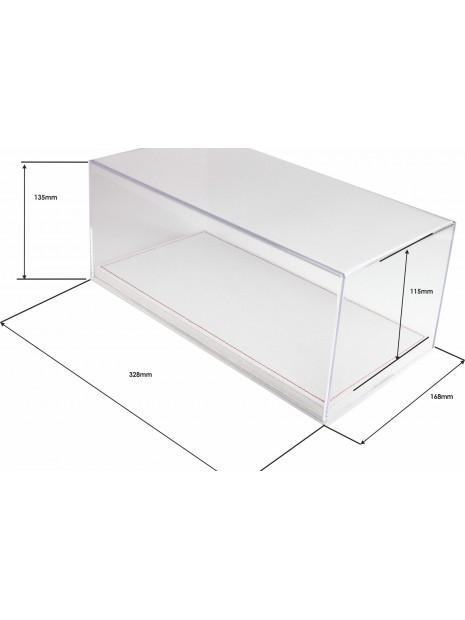 Vitrine plexiglas avec socle en alcantara beige clair 1/18 BBR BBR Models - 4