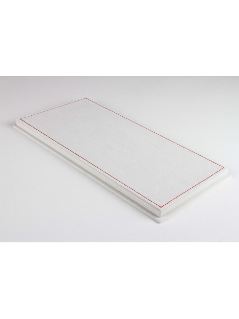 Display Case With Alcantara Base In Light Beige And Red Stitching 1/18 BBR BBR Models - 3
