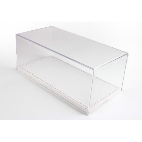 Display Case With Alcantara Base In Light Beige And Red Stitching 1/18 BBR BBR Models - 1