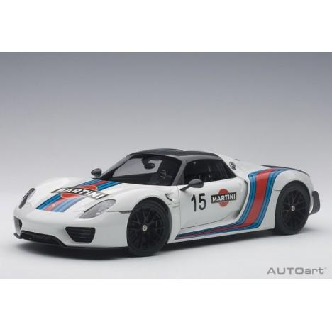 Porsche 918 Spyder Weissach Package Martini 1/18 AUTOart AUTOart - 1