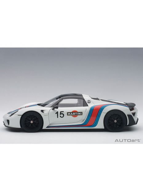 Porsche 918 Spyder Weissach Package Martini 1/18 AUTOart AUTOart - 4