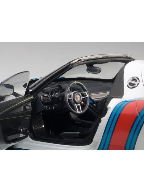 Porsche 918 Spyder Weissach Package Martini 1/18 AUTOart AUTOart - 5